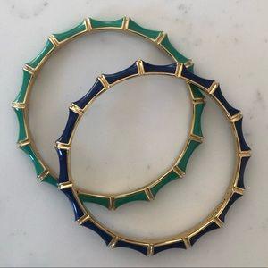 Pair of Stella & Dot Enamel Bangle Bracelets